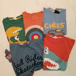 mini Boden 7/8Y Appliqué Shirt Bundle